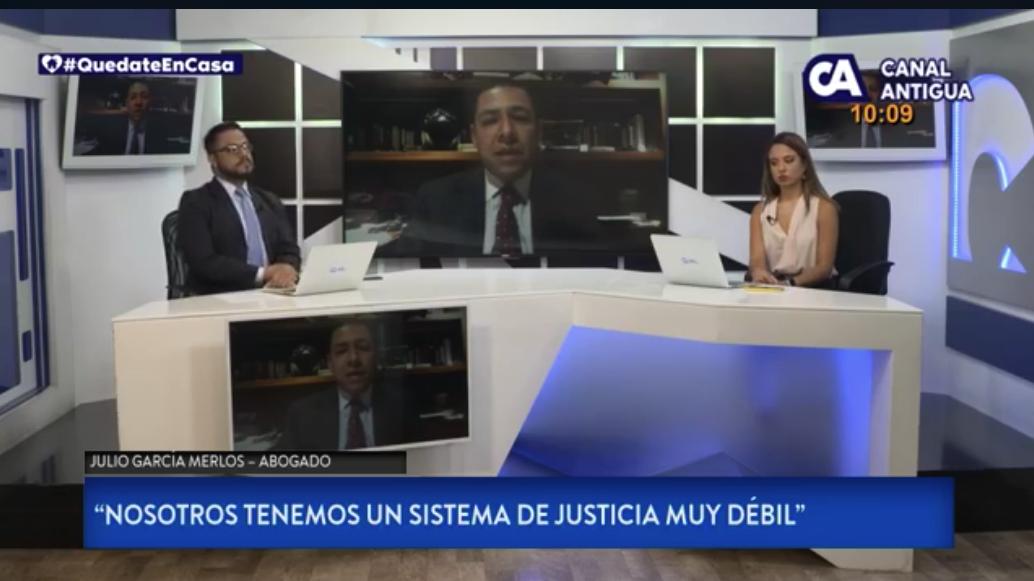 Julio García-Merlos opina sobre seguridad jurídica en Canal Antigua
